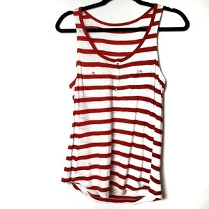 Express striped crew neck tank top summer blouse